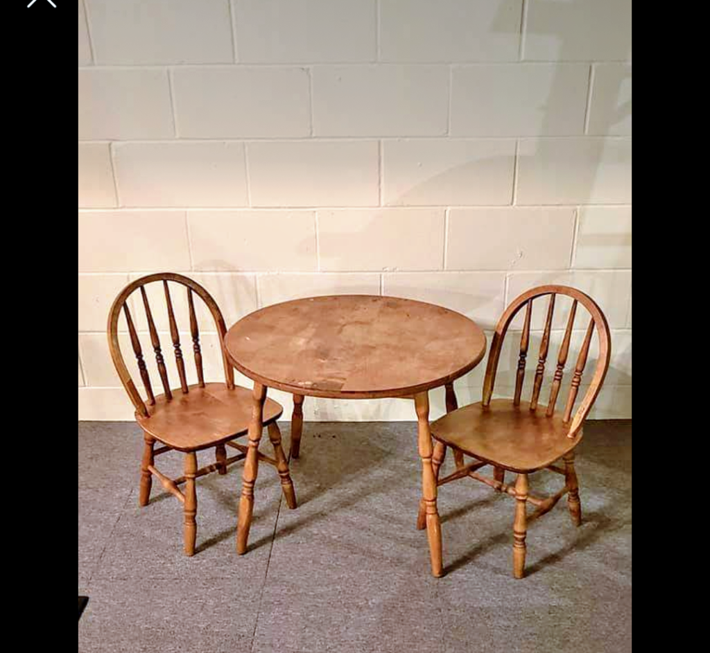 Child size table and chairs