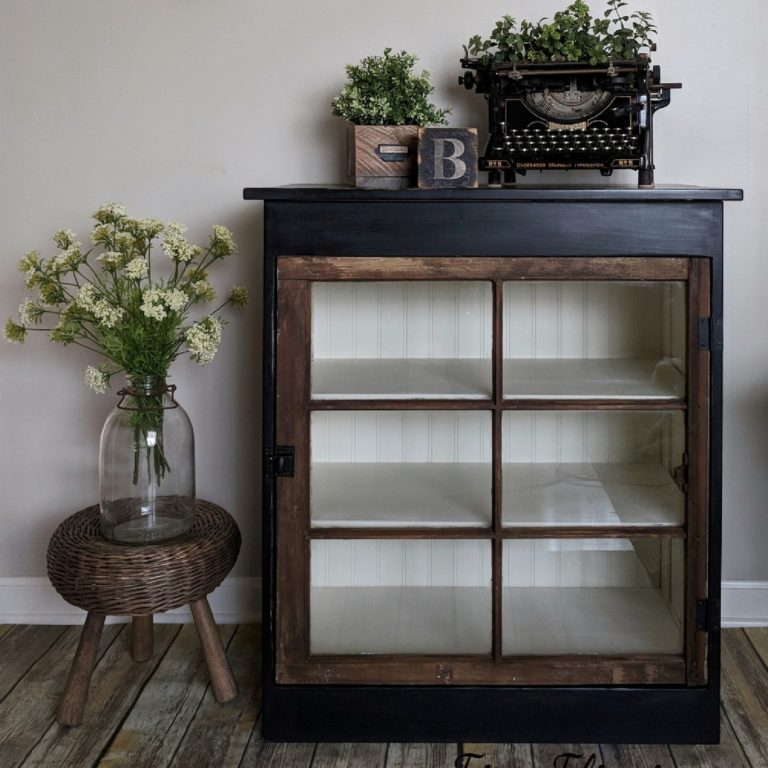Custom Vintage Window Cabinet